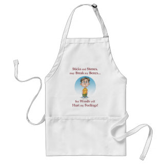 Sticks and Stones Adult Apron