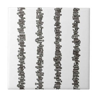 Sticks And Stones - Black And White Ink Drawing Ceramic Tile