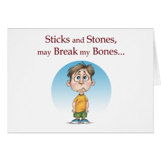 Sticks and Stones Card