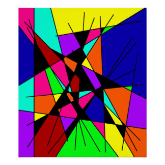 Sticks And Stones Colorful Abstract Art Poster
