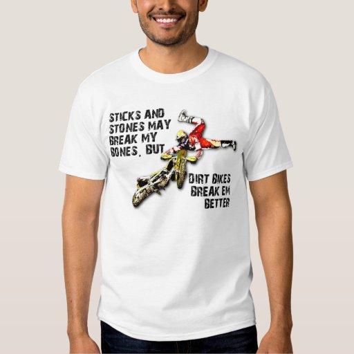 Sticks And Stones Dirt Bike Motocross Funny Shirt