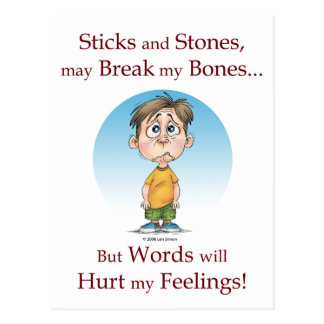 Sticks and Stones Postcard