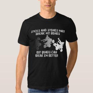 Sticks And Stones Quad ATV FunnyShirt Tee Shirt