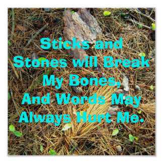 Sticks and Stones will Break My Bones...Poster Poster