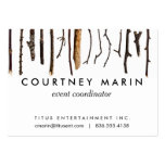 Sticks Rustic Branches Nature Shabby Chic Print Large Business Cards (Pack Of 100)