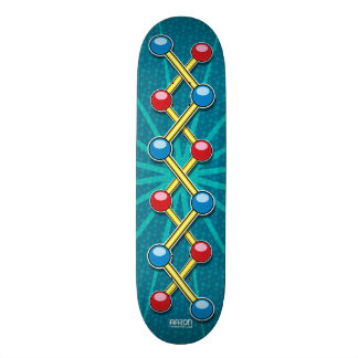 Sticks with Blue and Red Dots Skateboard Deck