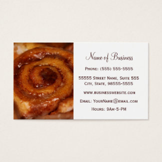 Sticky Bun Baked Goods Bakery Boutique Business Card