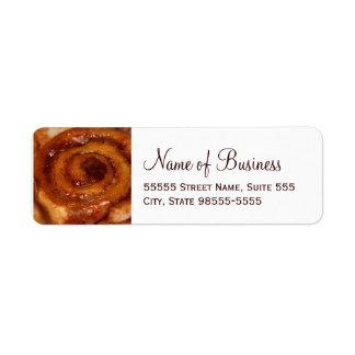 Sticky Bun Baked Goods Bakery Boutique Custom Return Address Labels