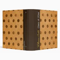 Sticky Butterscotch Dots Avery Binder