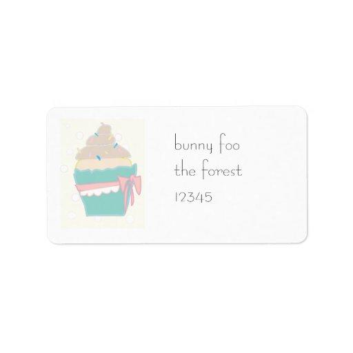 sticky cupcake custom address labels