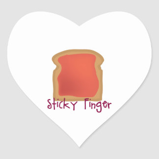 Sticky Finger Heart Sticker