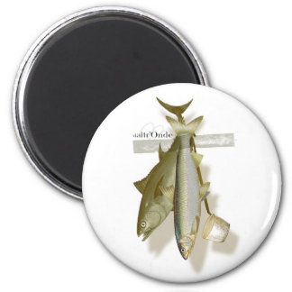 sticky fish 2 inch round magnet