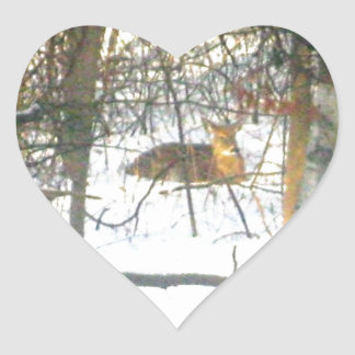 Sticky Fun * Deer Heart Sticker