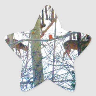 Sticky Fun * Deer Star Sticker
