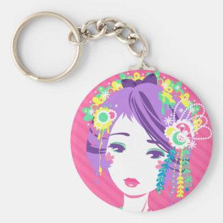 Sticky Geisha Basic Round Button Keychain