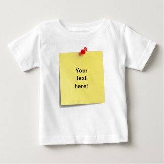 Sticky Note Baby T-shirt Template - Your Own Text!