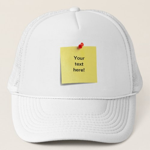 Sticky Note Hat Template _ Add Your Own Text