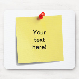 Sticky Note Mouse Mat Template - Add Your Own Text
