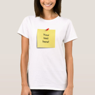 Sticky Note T-shirt Template - Add Your Own Text!