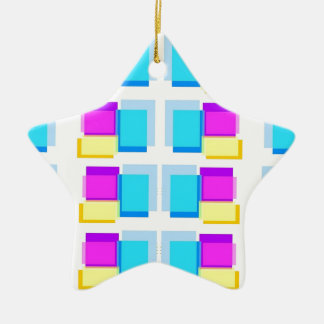STICKY NOTES Colorful Collage Christmas Tree Ornament