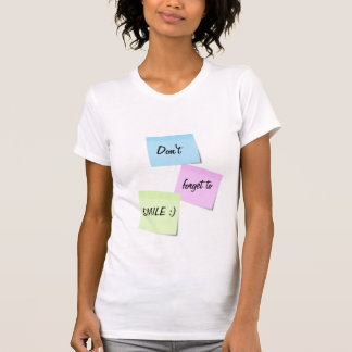 Sticky notes Smile customizable text T-Shirt