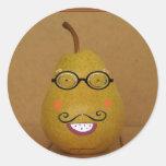 sticky pear classic round sticker