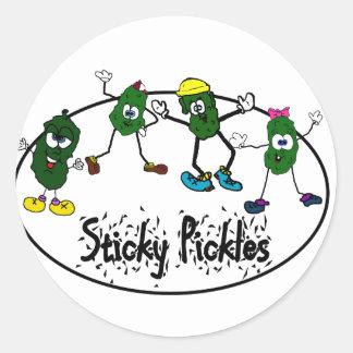 Sticky Pickle Logo Classic Round Sticker