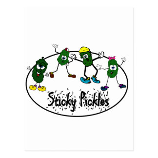 Sticky Pickle Logo Postcard