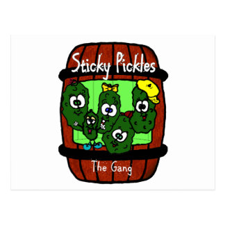 Sticky Pickles Post Card