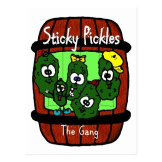 Sticky Pickles Postcards