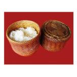 Sticky Rice [Khao Niao] Thai Lao Food Post Card
