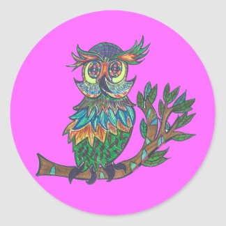 Sticky Sparkly Owl Sticker
