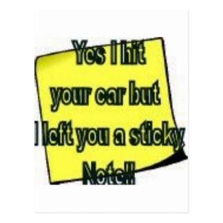 stickynote2 postcard