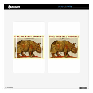 Stiff, Inflexible, Invincible Rhinoceros Kindle Fire Skins