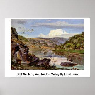 Stift Neuburg And Neckar Valley By Ernst Fries Posters