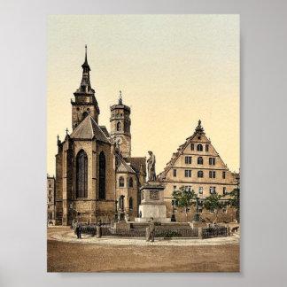 Stiftkirche, Stuttgart, Wurtemburg, Germany rare P Poster