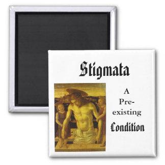 Stigmata, APre-existing, Condition 2 Inch Square Magnet
