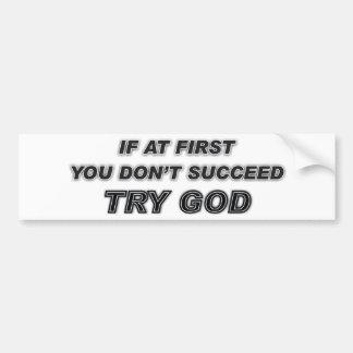 Stiker de parachoques con cita cristiana pegatina para auto