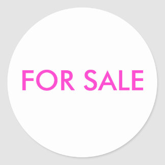 "STIKER ""FOR SALE"" CLASSIC ROUND STICKER"