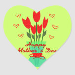 Stiker Heart to Mothers Day Etiqueta