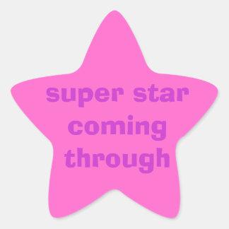 stiker pegatina en forma de estrella