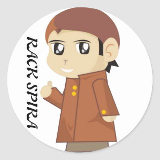 Stiker RACK SPIRA Classic Round Sticker