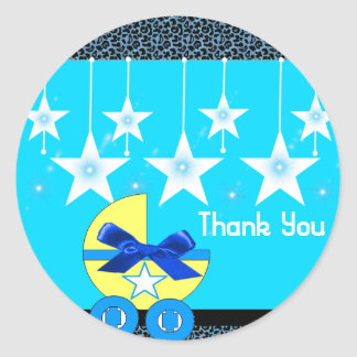Stiker to Baby Shower Classic Round Sticker