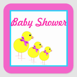 Stiker to Baby Shower Square Sticker