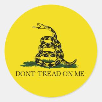 Stikers patrióticos pegatina redonda