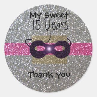 stikers to 15 years round sticker