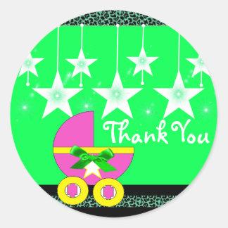 stikers to Baby Shower Classic Round Sticker