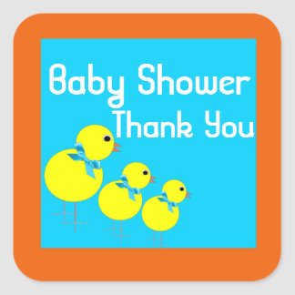 stikers to baby shower square sticker