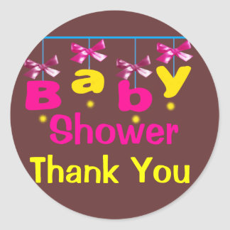 Stikers to Baby Shower Classic Round Sticker