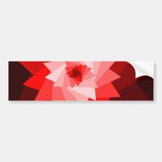 stikker rojo del parachoque de la flor pegatina de parachoque
